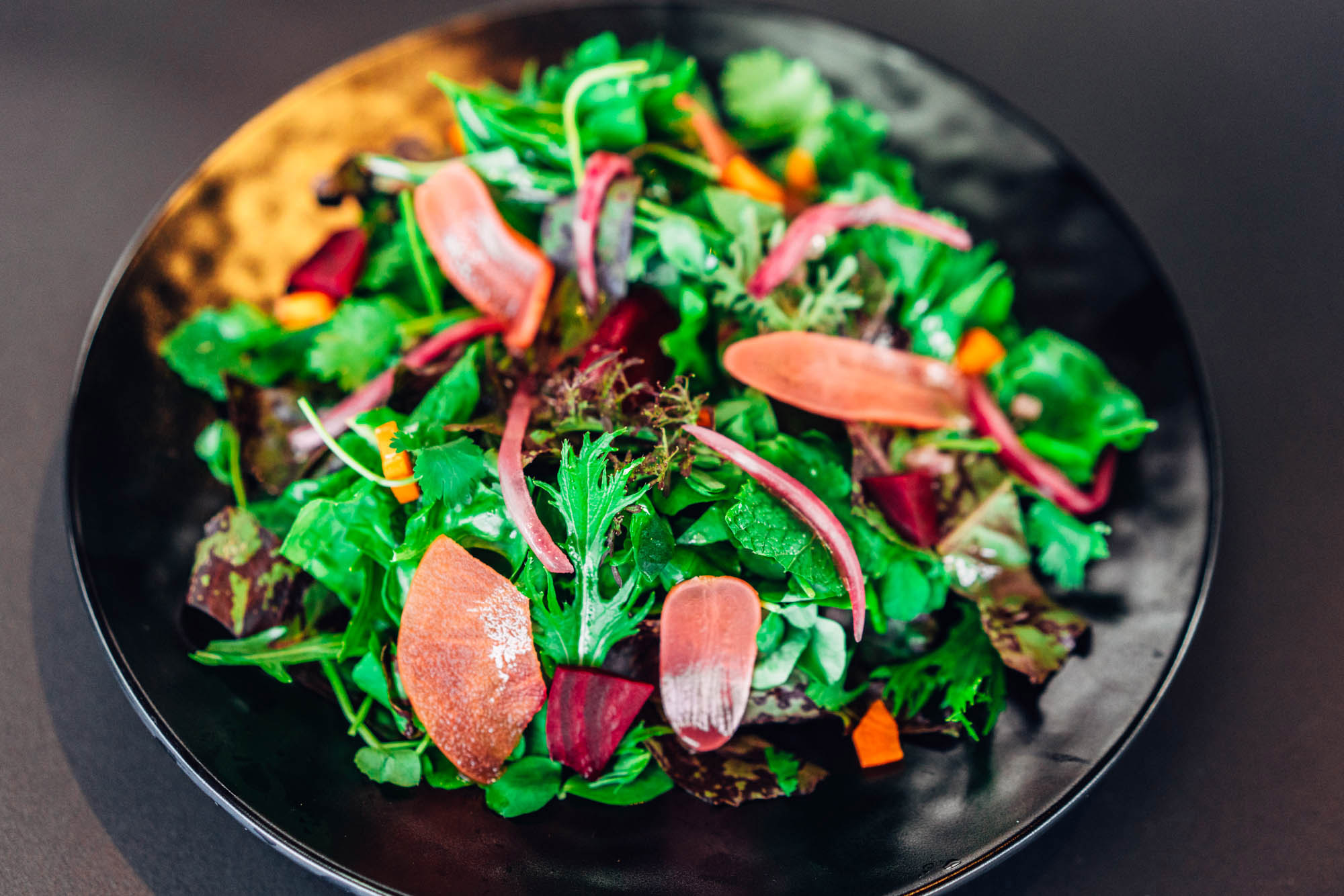 Helmed by chefs David Lee and Benjamin Goldman, the restaurant offers gorgeously executed and plated vegetarian fare in surroundings that will inspire you to stick to your healthy habits.